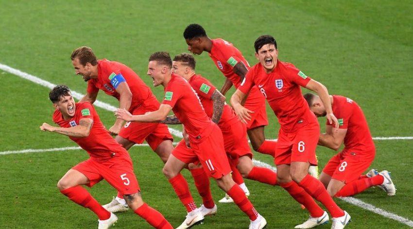 équipe anglaise lors de la coupe du monde de football en 2018